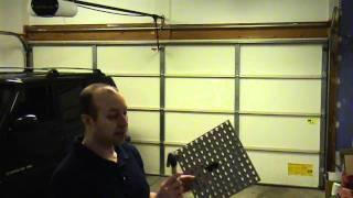 storage on your garage door using peg lock