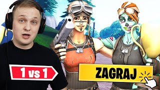 RENEGADE RAIDER VS WIDZOWIE - 1v1 o SKINA! Fortnite