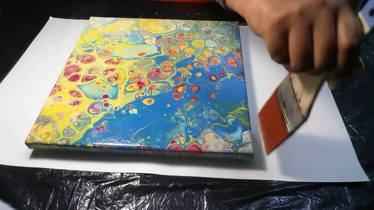 E4 Acrylic Pouring How To Varnish A Painting Remove Silicone