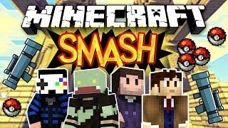 FUN-Runde mit Pokebällen & Raketenwerfern! Minecraft SMASH! mit GLP, Zombey & Hijuga  | ungespielt