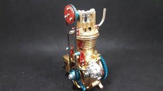 Assembling - Teching Single Cylinder Engine Model Full Aluminium