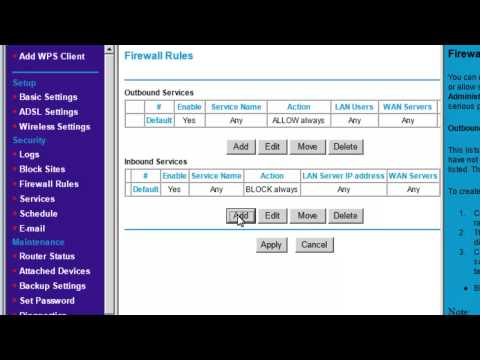 Port Forwarding (Geovision ports) - Netgear