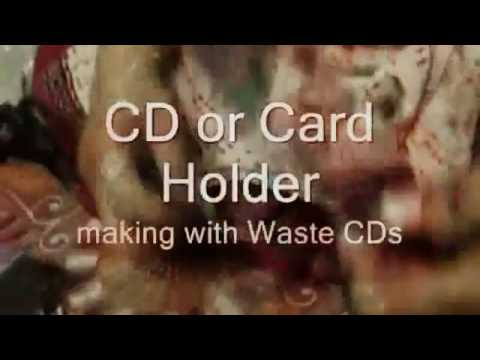 Creative Ideas how to make waste Decorative item from waste CDs