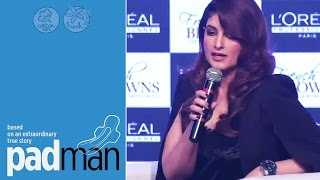 Twinkle Khanna On Pad Man Movie | It Spreads Awareness About Menstruation