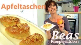 Apfeltaschen Rezept   Apfel-Mandel Füllung im Hefeteig backen   Apfeltaschen ohne Blätterteig
