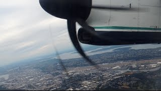 Alaska Airlines (Horizon Air) Bombardier DHC 8 Q400 [N418QX] start up and takeoff from SEA