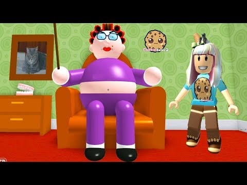 My Grandma ! Roblox Obby  Lets Play Video Games with Cookie Swirl C
