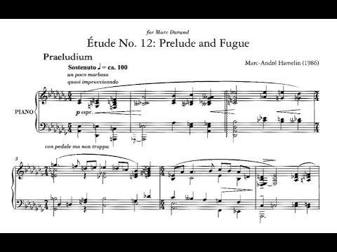 Marc-André Hamelin - Étude No. 12 in A-flat minor 'Prelude and Fugue'