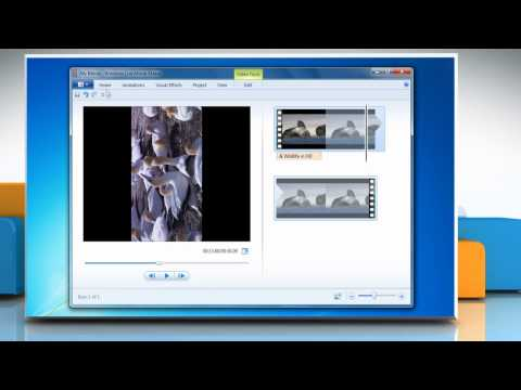 How To Rotate A Video In Windows® Movie Maker In Windows® 7 :Tutorial