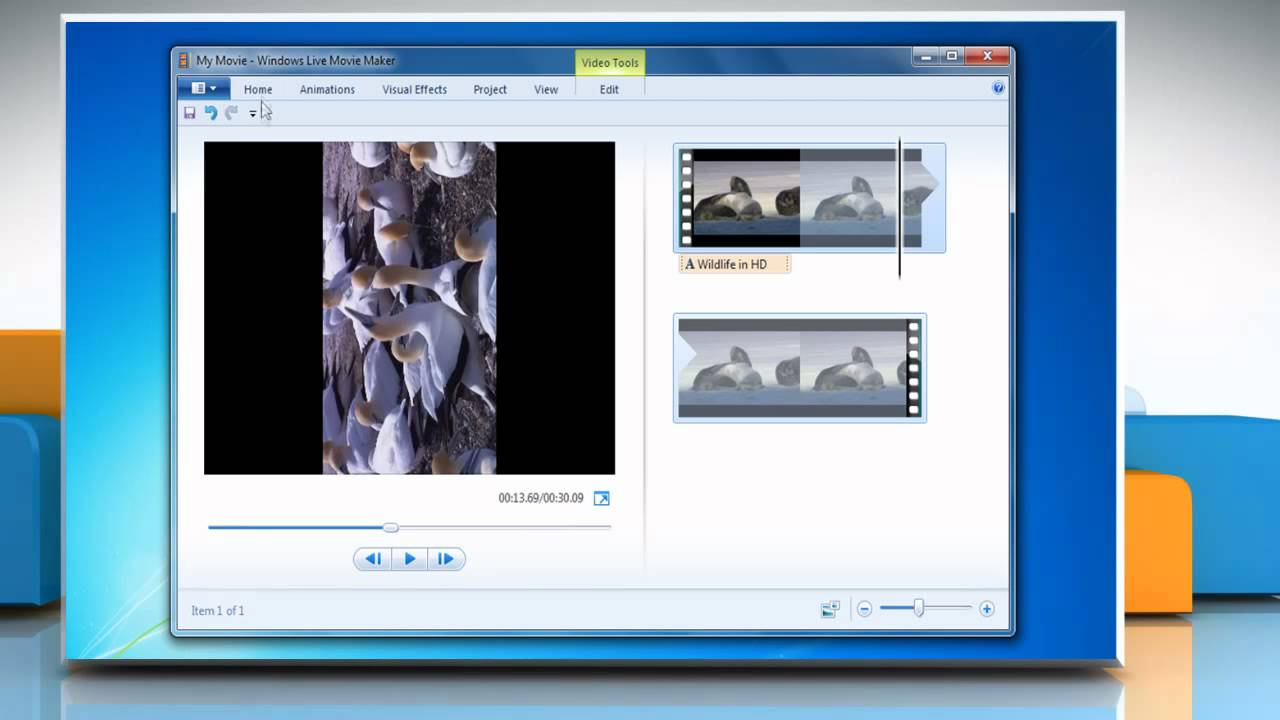 How to rotate a video on windows movie maker in windows 7 youtube ccuart Images