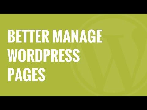 WordPress page nesting