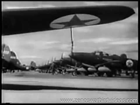 Bell P-39 Airacobra Fighters roll off the assemly line & into battle 1943 Restored