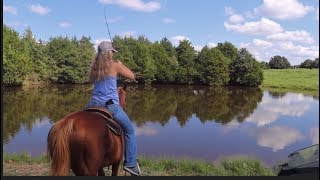 GIRL Catches Bass from a HORSE!!
