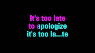 Apologize One Republic Feat. Timbaland Karaoke - You Sing The Hits