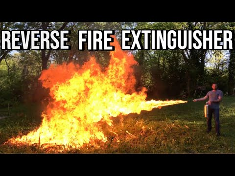 Making a Fire Extinguisher Flame Thrower: Behind the Scenes