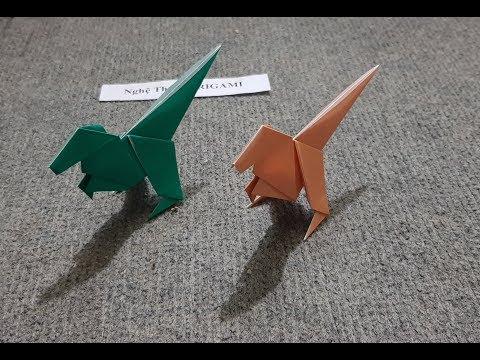 ORIGAMI - Hướng Dẫn Cách Gấp Khủng Long - Easy Dinosaur