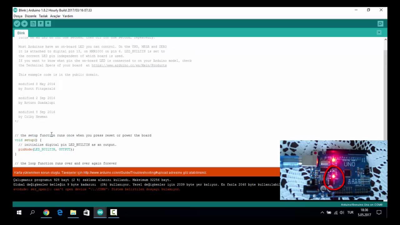 Arduino Ya Giris 2 Arduino Ile Led Yakma Youtube