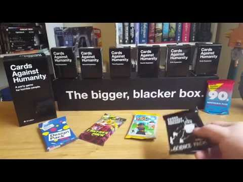 Cards Against Humanity Expansion Sets Unboxing