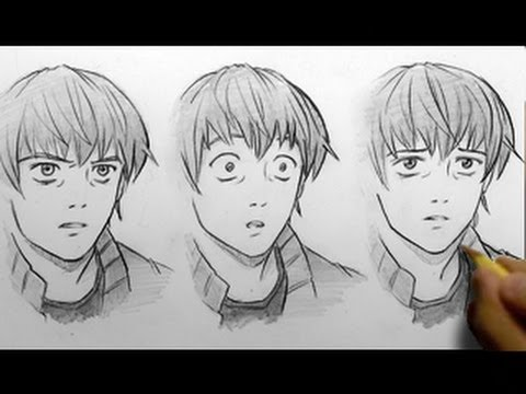 How To Draw Facial Expressions 3 Ways Youtube