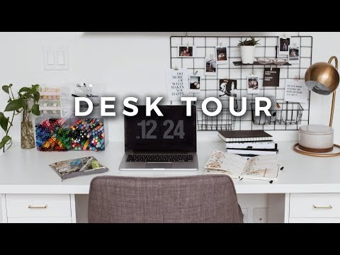 Desk Tour + Office Organization! (Stationery Storage & Minimal Workspace)