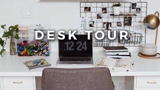 Desk Tour + Office Organization! (Stationery Storage & Minimal Workspace)