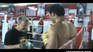 Freddie Roach Boxing Padwork/Mitts with Pro Boxer Chavez Jr.