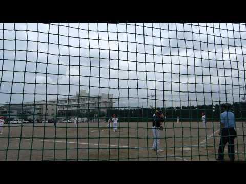 前川シャークス渡さん 四球 H25 6 30サンユーリーグ 対前川2丁目