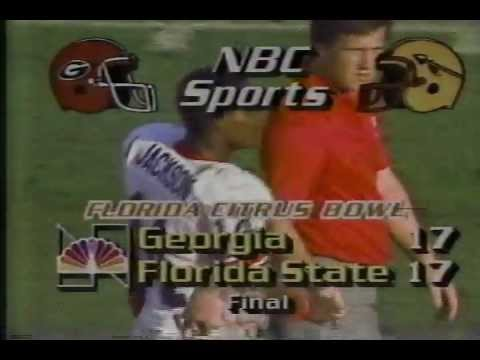1984 Citrus Bowl - Georgia vs. Florida State (Kevin Butler's 71-yard FG attempt - barely missed)