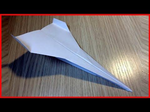 Как сделать из бумаги а4 самолет который летает 100 метров