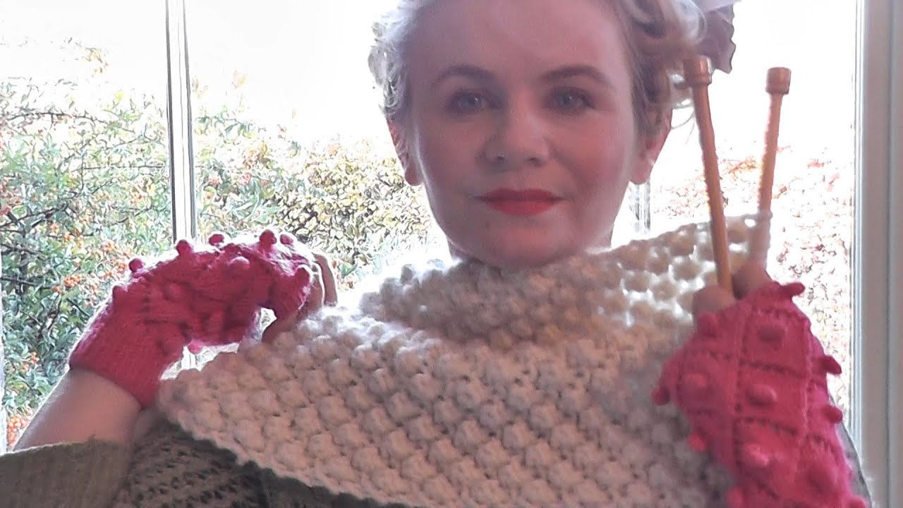 Trinity Stitch Knit Hat Pattern : TRINITY STITCH SCARF - Beginners Edit - YouTube