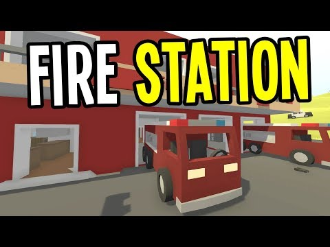 Unturned - GREECE FIRE STATIONS are HUGE (and BROKEN?!) - Greece Map Survival - Episode 9
