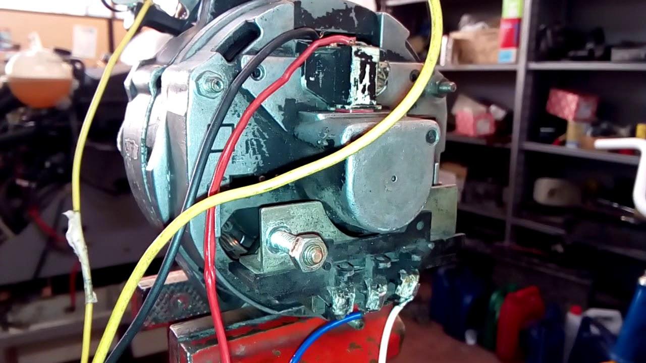 Alternador Convertido En Motor 12 Voltios