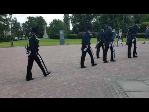 The Royal Guard by the Royal Palace in Oslo, Norway