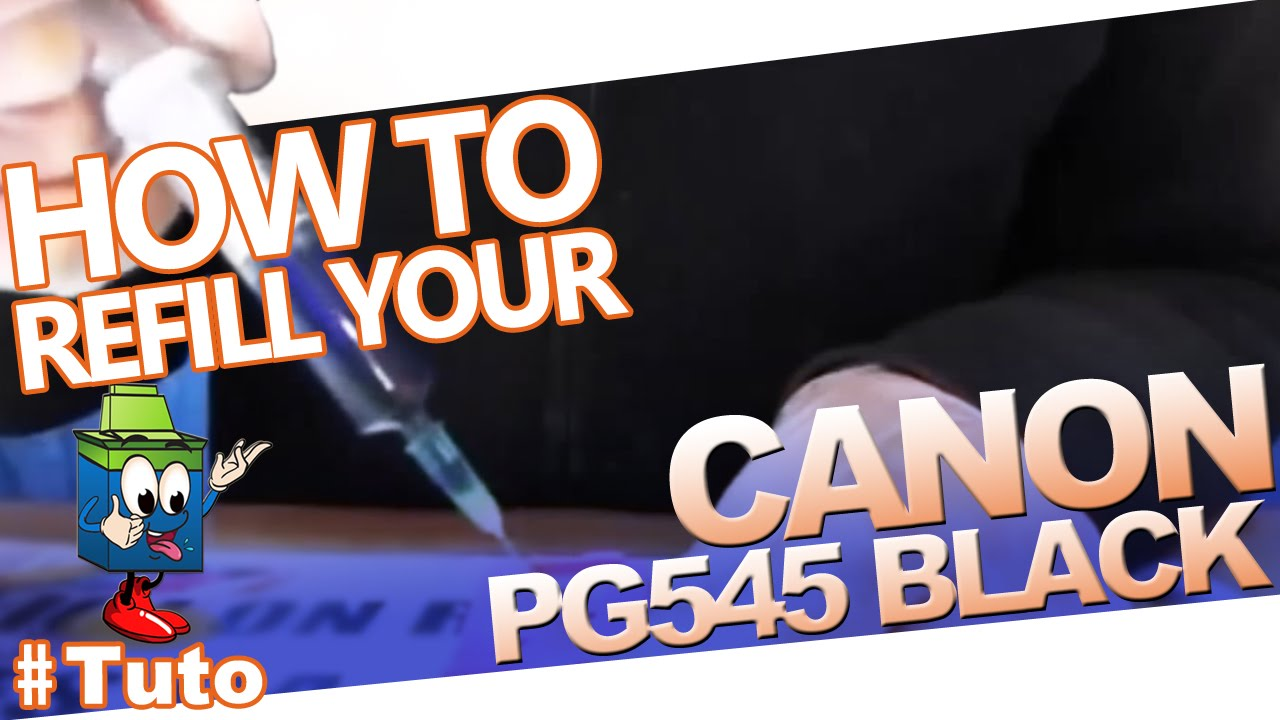 Canon Pg 545 Black Cartridge How To Refill The Youtube Catridge Buat Test Cl 811