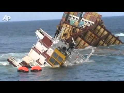 Wrecked Cargo Ship Sinking In New Zealand Youtube