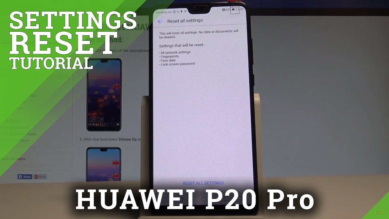 How to Reset Settings in HUAWEI P20 Pro - Restore Defualt Settings  |HardReset Info