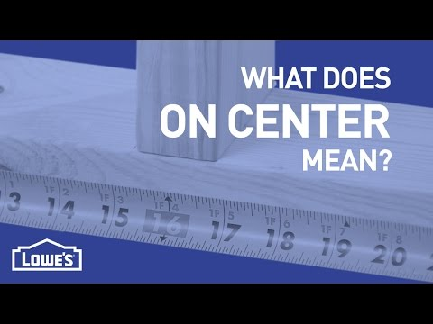 What Does On Center Mean? | DIY Basics