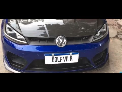 golf vii r modified body kit exhaust youtube. Black Bedroom Furniture Sets. Home Design Ideas