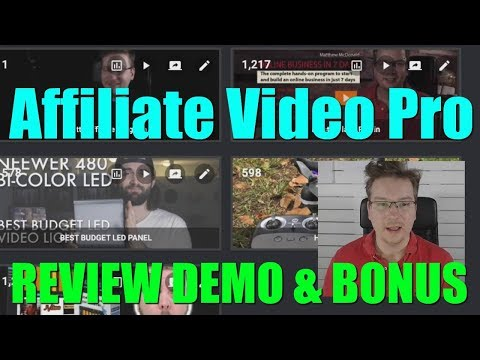 Affiliate Video Pro Review Demo Bonus - Ultimate Software for Affiliates to Use Video. http://bit.ly/2ZjSJ5x