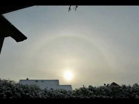 Ring um die Sonne 15.1.2013 - NW-Germany, chemical air