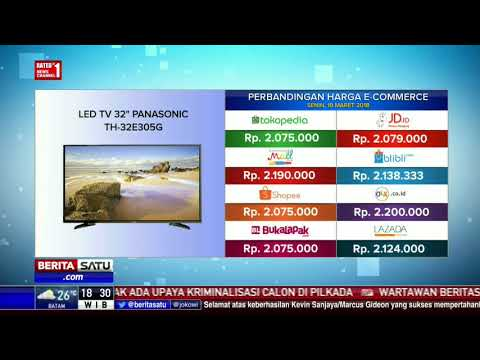 "Perbandingan Harga E-Commerce: Led TV 32"" Panasonic TH-32E305G"