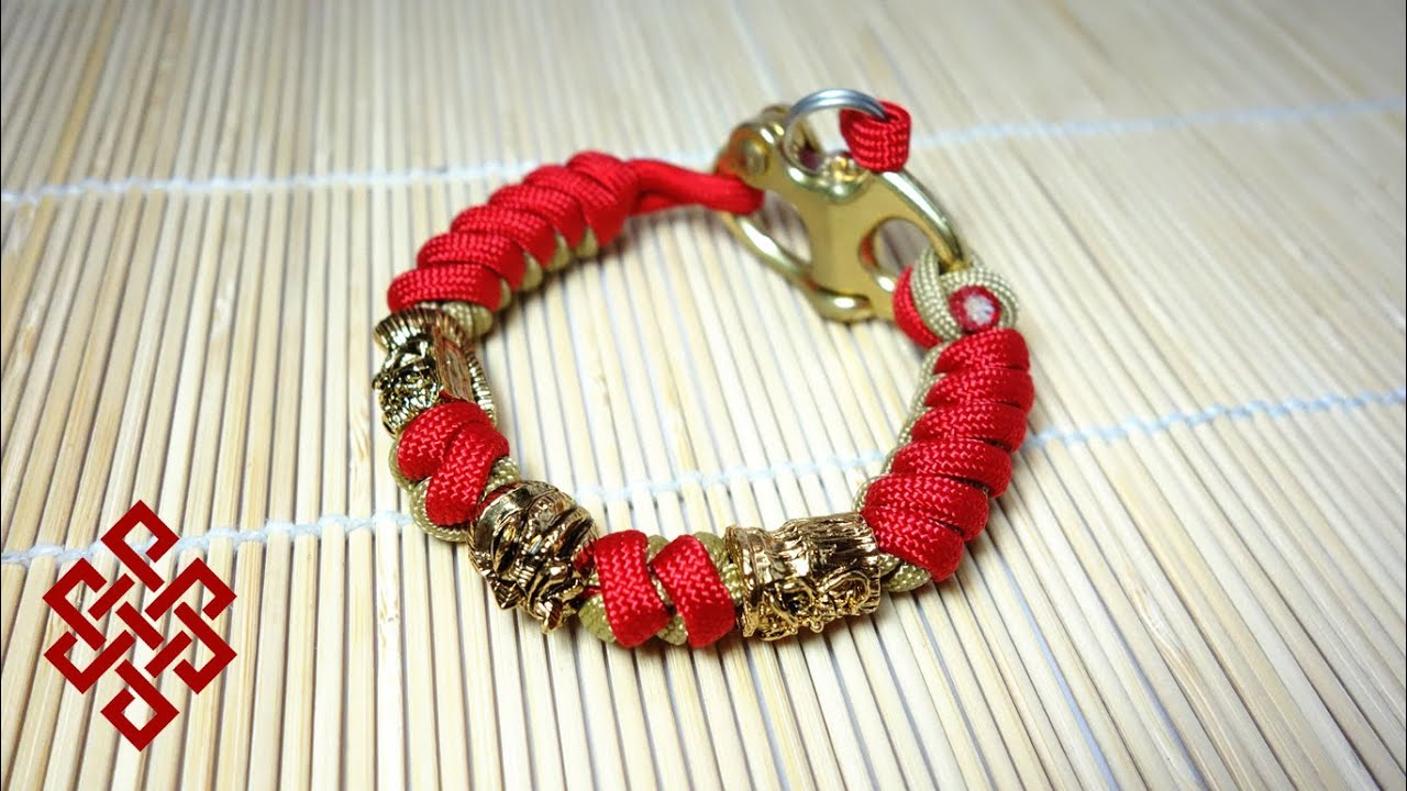 Project Demo Tiki Tribunal Snake Knot Paracord Bracelet With Bronze Snap Shackle You