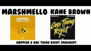 Download Lagu Marshmello Kane Brown - Happier X One Thing Right Mashup MP3