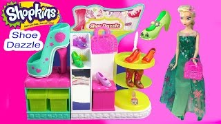 Shopkins Season 3 Playset Shoe Dazzle Collection Fashion Spree Exclusive Toy Video Disney Queen Elsa