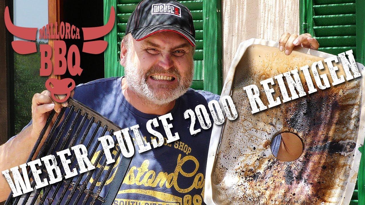 Weber Elektrogrill Pulse Reinigen : Mallorcabbq folge weber pulse reinigen youtube