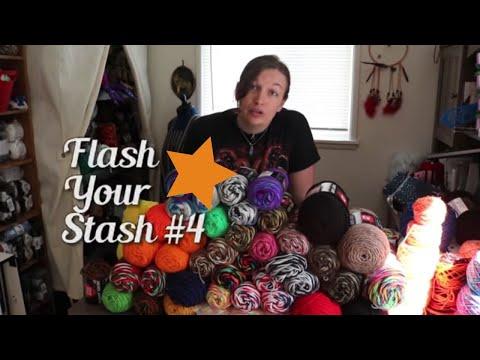 Flash Your Stash 2018 #4: Spring Cleaning Craft Room Organization, Knit Crochet Fiber Arts Vlog