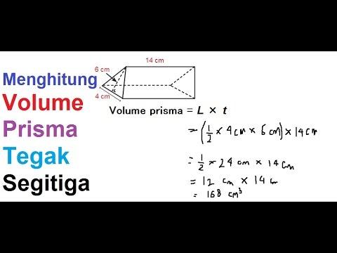 Menghitung Volume Prisma Tegak Segitiga Youtube