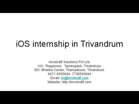 Ios Internship in Trivandrum - Imrokraft Solutions