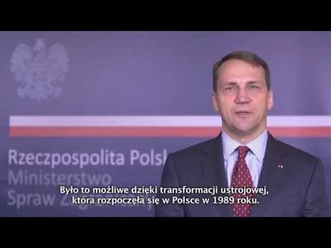 Minister of Foreign Affairs Radosław Sikorski on Poland