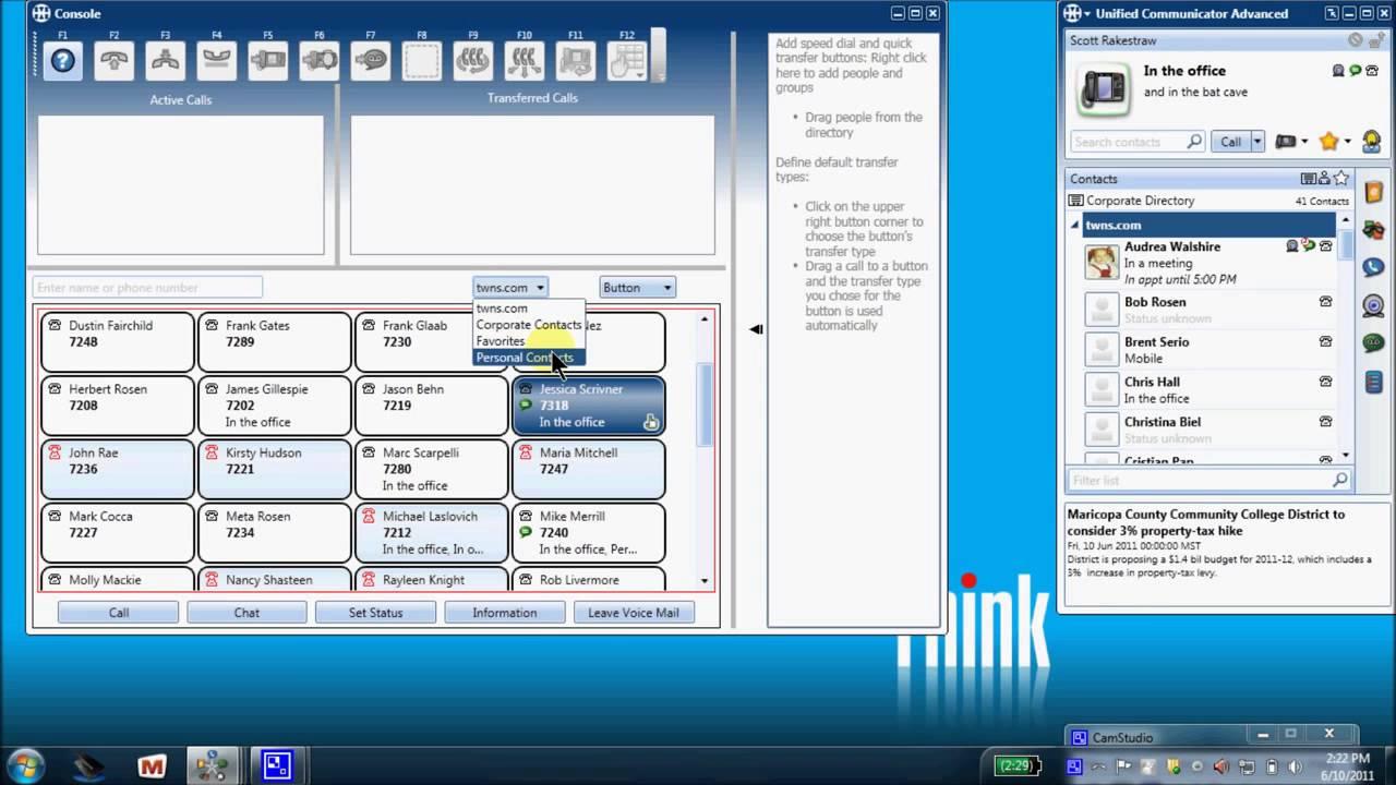 Mitel Unified Communicator Advanced - Part 2 - Optional Console application